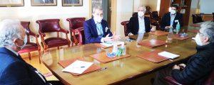 Baleària y la Autoridad Portuaria de Almería analizan el nuevo servicio con Melilla