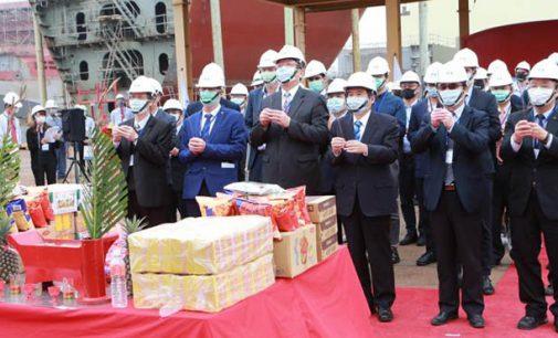 Puesta de quilla del primer heavy lift que se construye en Taiwán