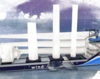 Nuevo buque offshore para la eólica marina de EE.UU., creado por Ampelmann y C-Job Naval Architects