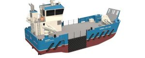 El nuevo buque de apoyo a la acuicultura, Landing Utility Vessel 1908, es entregado por Damen a Organic Sea Harvest