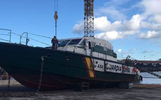 Desmantelamiento de la patrullera de la Guardia Civil Río Nalón