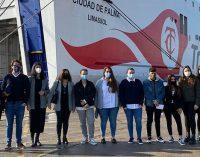 Naviera Armas Trasmediterránea imparte una master class a bordo del buque Ciudad de Palma