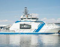 El patrullero Turva, de la guardia costera finlandesa, realiza pruebas con Bio GNL