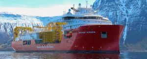 Pruebas de mar del buque cablero Nexans Aurora