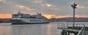 Las pruebas de Brittany Ferries continúan en el Puerto de Bilbao para el atraque del buque Salamanca con combustible GNL