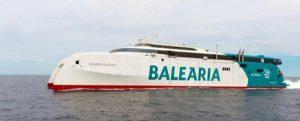 El 'fast ferry' más innovador y sostenible del Mediterráneo creado por Baleària, el Eleanor Roosevelt, está operativo desde el 1 de mayo en Baleares