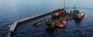 Time lapse de la construcción del casco de la plataforma flotante de GNL de Tortue