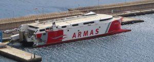 Naviera Armas Trasmediterránea colaboró con Defensa en el ejercicio MARSEC-21
