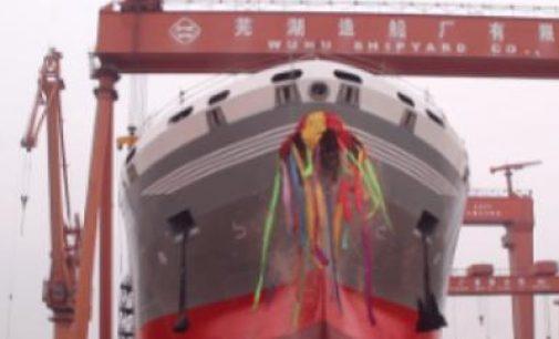 Botadura del buque químico de 22.000 t realizada con éxito en el astillero de Wuhu