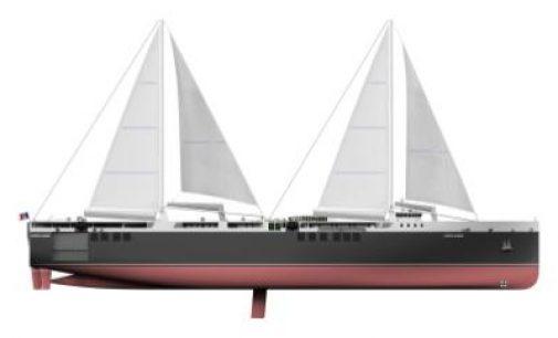 Construcción de NEOLINE de un buque de carga a vela