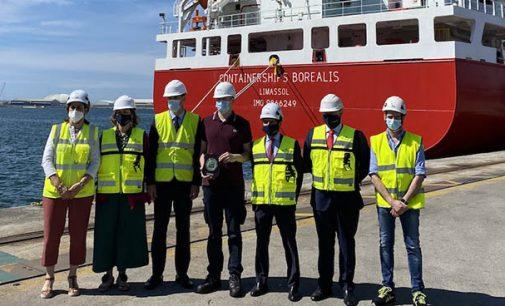 Atraca en el puerto de Bilbao el primer buque propulsado por gas