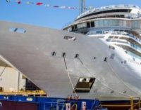 Viking Mars, el más reciente crucero oceánico que Fincantieri está construyendo para el armador Viking, ha salido a flote en el astillero de Ancona