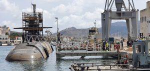 Finaliza la primera varada del submarino Isaac Peral