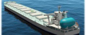 Contrato de fletamento a largo plazo para tres buques alimentados con GNL para el transporte de materias primas