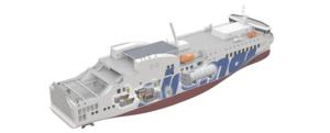 Nuevo pedido de un ferry con varios motores propulsado con GNL