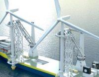 Nuevo proyecto de un buque offshore para el ahorro de tiempo y consumo de combustible en la instalación de turbinas