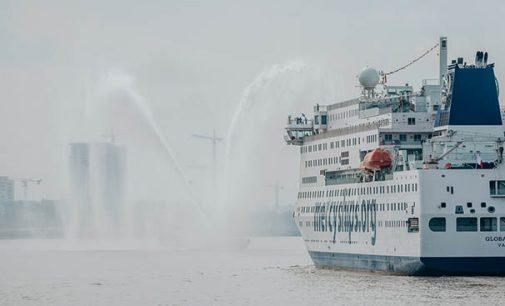 El buque hospital civil más grande del mundo llega al puerto de Amberes donde finalizará su armamento