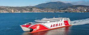 El nuevo buque de la Naviera Armas Trasmediterránea llegará a finales de octubre a las Islas Canarias